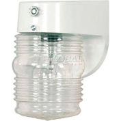 "Nuvo 77/862, 1 Light-Porch/Wall, Clear Mason Jar W Photoelectric Sensor, White, 4.5""W X 6""H"