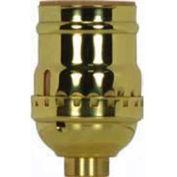 Satco 80-1028 Short Keyless Socket w/Screw Terminal Less Set Screw - Polished Brass