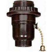 Satco 80-1068 Medium Base Socket - Brass On-Off Metal Pull Chain