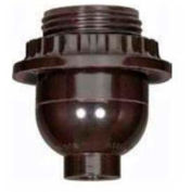 Satco 80-1072 Medium Base Socket - Short Keyless-Less Set Screw  1/8 IP Cap w/Plastic Bushing