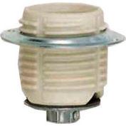 Satco 80-1075 Keyless Threaded Glazed Porcelain Socket w/ Cap - Ring  1/4 IPS