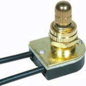 Satco 80-1133 On-Off Metal Rotary Switch  3/8-in. Bushing  Nickel Finish