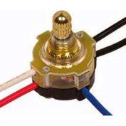 Satco 80-1137 3-Way Metal Rotary Switch  3/8-in. Bushing  Nickel Finish
