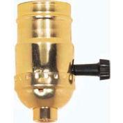 Satco 80-1193 On-Off Turn Knob Socket w/Removable Knob With Set Screw - Brite Gilt