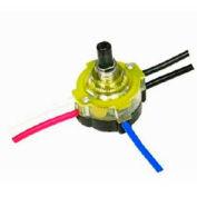 Satco 80-1357 3-Way Lighted Push Switch  Brass Finish