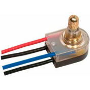 Satco 80-1359 On-Off Lighted Rotary Switch  Brass Finish