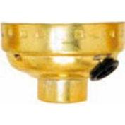 Satco 80-1419 Aluminum Cap - 1/8 IP Sideout Hole - Brite Gilt