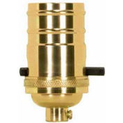 Satco 80-1432 On-Off Push Thru Socket With Set Screw - Polished Brass