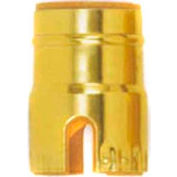 Satco 80-1468 Solid Brass Shell w/ Paper Liner  Push-Thru - Polished Nickel