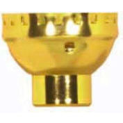 Satco 80-1483 Solid Brass Cap w/ Paper Liner  1/4 IP Less Set Screw - Polished Brass