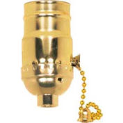 Satco 80-1503 2 Position Pull Chain Socket w/Diode - Nickel