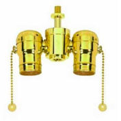 Satco 80-1532 Solid Brass Cluster Body  Antique Brass