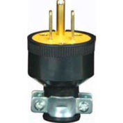 Satco 80-1688 3 Prong Rubber Plug with Metal Grip