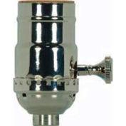 Satco 80-1772 On-Off Turn Knob Socket w/Removable Knob With Set Screw - Satin Brass