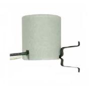 Satco 80-1956 Keyless Unglazed Porcelain Socket w/ 1-in. Snap-in Double Spring Clip