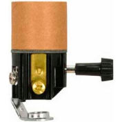 Satco 80-2034 Medium Base Socket w/ 2 Circuit 3 Terminal Turn Knob