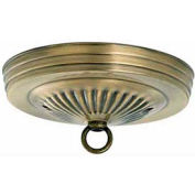 Satco 90-053 Ribbed Canopy Kit - Antique Brass Finish  7/16-in. Center Hole