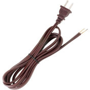 Satco 90-101 8 Ft. Cord Set, 18/2 SPT-2, Brown