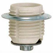 Satco 90-1074 Keyless Threaded Glazed Porcelain Socket w/ Cap - Ring
