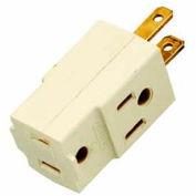 Satco 90-1120 Triple Cube Tap  Ivory