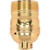 Satco 90-1412 Short Keyless Socket w/Screw Terminal  Set Screw and Uno Thread - Brite Gilt