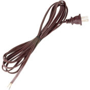 Satco 90-1524 8 Ft. Cord Set, 18/2 SPT-1, Brown