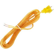 Satco 90-1531 15 Ft. Cord Set, 18/2 SPT-1, Clear Gold