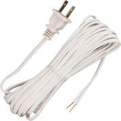 Satco 90-1534 20 Ft. Cord Set, 18/2 SPT-1, White