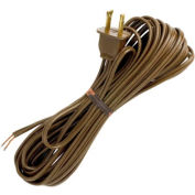 Satco 90-1535 20 Ft. Cord Set, 18/2 SPT-1, Brown