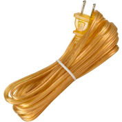 Satco 90-1537 20 Ft. Cord Set, 18/2 SPT-1, Clear Gold