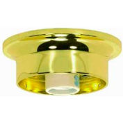 Satco 90-230 3-1/4-in. Wired Fixture Holder - Brass Finish
