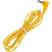 Satco 90-2320 8 Ft. Flat Plug Cord Set 18/2 SPT-2-105-#176;C, Clear Gold