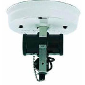 Satco 90-235 2 Light Bent Glass Fixture Holder w/ Pull Chain Switch - White Finish
