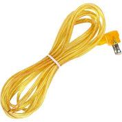 Satco 90-2390 12 Ft. Flat Plug Cord Set 18/2 SPT-2-105-#176;C, Clear Gold