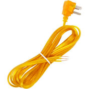 Satco 90-2437 10 Ft. Flat Plug Cord Set 18/3 SPT-2-105-#176;C, Clear Gold