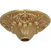 Satco 90-2480 Brass Canopy - French Gold Finish  6-1/2-in. Diameter