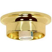 Satco 90-330 3-1/4-in. Wired Fixture Holder - Antique Brass Finish