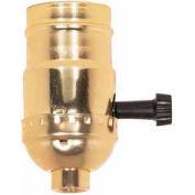 Satco 90-413 On-Off Turn Knob Socket w/Removable Knob Less Set Screw  1/8 IPS - Brite Gilt