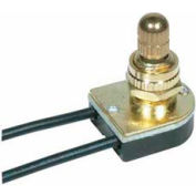 Satco 90-501 On-Off Metal Rotary Switch  Brass Finish
