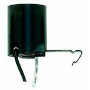 Satco 90-543 Keyless Lampholder  Snap-In Socket for 6-in. Pan