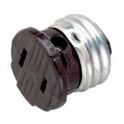 Satco 90-547 Medium Base - Polarized Socket Outlet Adapter  Brown