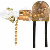 Satco 90-704 On-Off Canopy Switch  Brass Finish