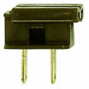 Satco 90-715 Slide Plug-Polarized 18/2-SPT-1  Brown