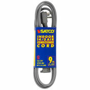 Satco 93-5002 #14/3 Ga. SPT-3 Gray Air Conditioner/Appliance Cord - 9 Ft.