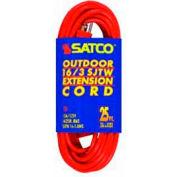 Satco 93-5007 #16/3 Ga. SJTW-3 Orange Outdoor Extension Cords - 100 Ft.
