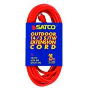Satco 93-5008 #14/3 Ga. SJTW-3 Orange Outdoor Extension Cord - 25 Ft.