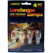 Satco S4551 4t5 4w Miniature W/ Mini Wedgebase Bulb - Pkg Qty 12