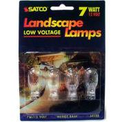 Satco S4552 7t5 7w Miniature W/ Mini Wedgebase Bulb - Pkg Qty 12