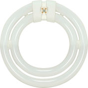 Satco S6596 55 Watt T9 Fluorescent Light Bulb, 4-Pin Base, 3800 Lumens, Warm White