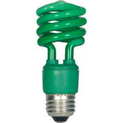 Satco S7272 13t2/Green 13w W/ Medium Base- Cfl Bulb - Pkg Qty 12